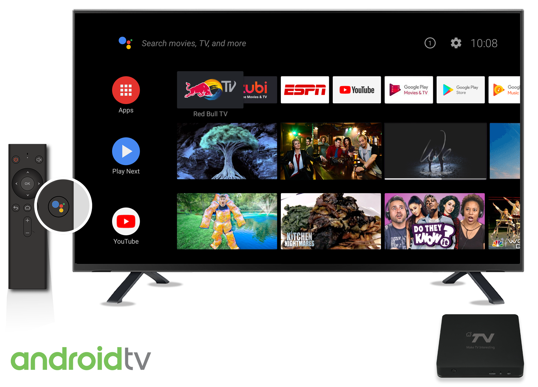 how to watch movies on android tv