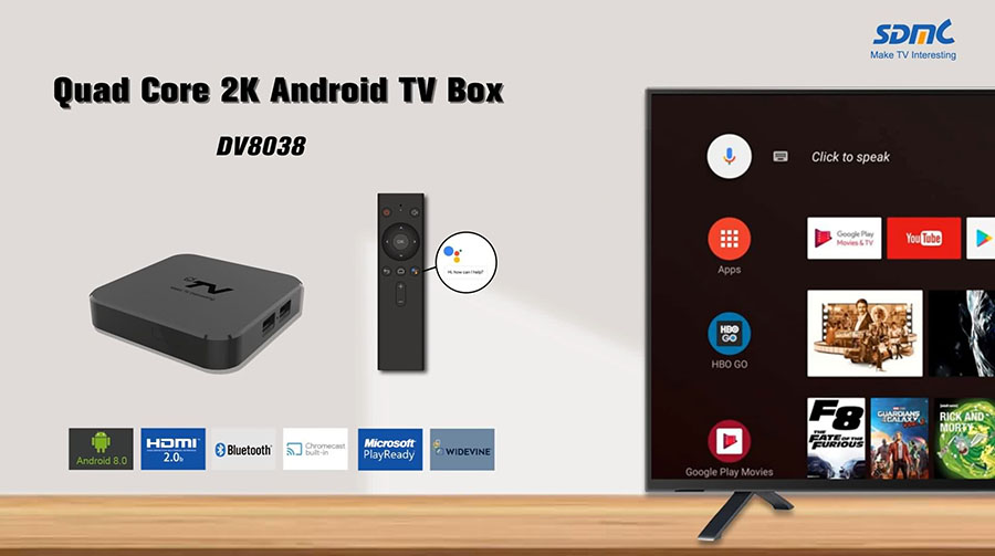 Quad Core 2K Google Android TV Media Box