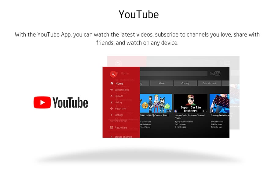 2K Android OTT TV Box support Youtube
