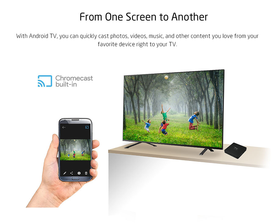 4K HD Android OTT TV Box eith chromecast built-in