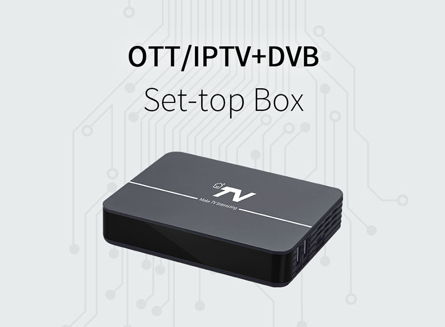 DV8004-S2 HD Hybrid Android TV Set-Top Box OTT/IPTV + DVB-S2
