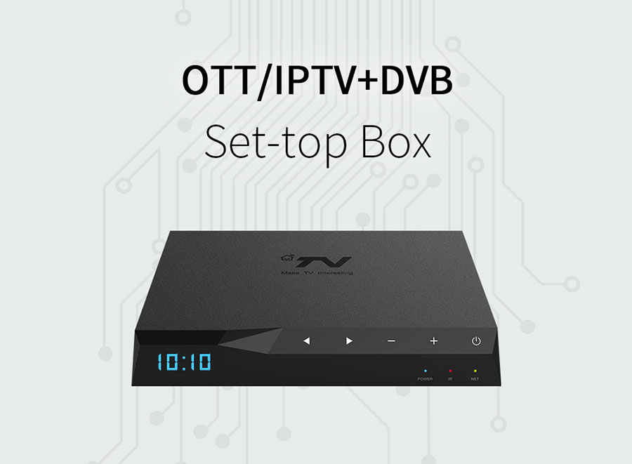 DV8330-IS Quad Core Android Hybrid OTT ISDB-T STB 4K Ultra HD