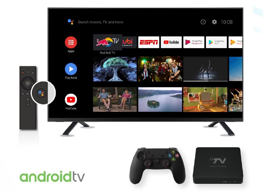 DV8519 4K Amlogic S905X2 Android TV Pie 9.0 Device