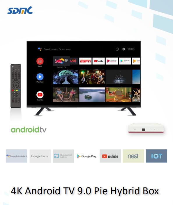 DV8545-C 4K Android TV OTT+DVB-C STB with Amlogic S905X2 processor