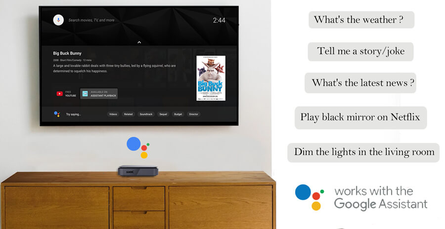 Amlogic S905X4 Android TV 10 OTT Box with google assistant