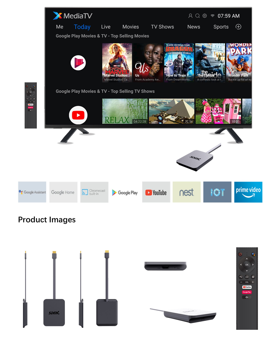 Amlogic S905Y4 4K Android TV Ready Dongle