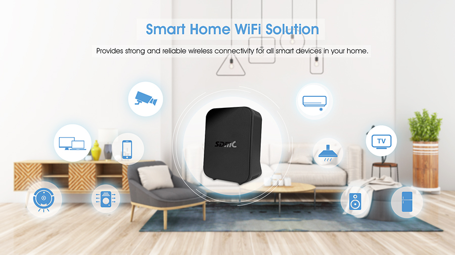 Dual Band Smart WiFi Mesh System Wireless Router