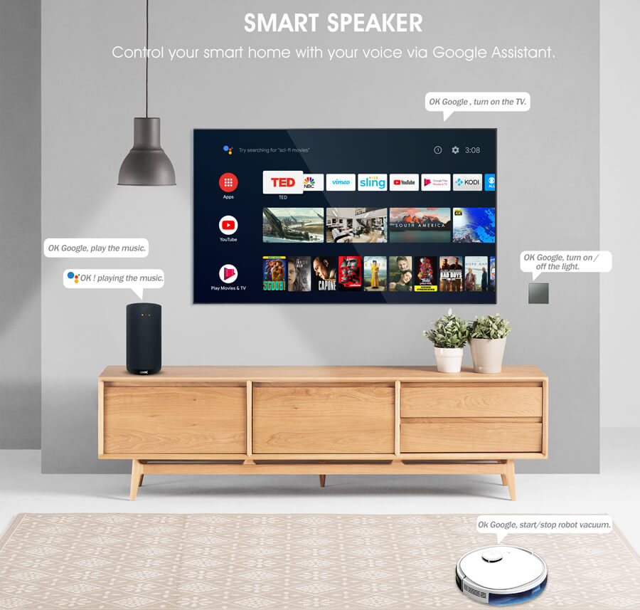 Android TV Smart Speaker with Google Assistant