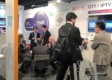 SDMC Showcased Android TV STB Running Android 9.0 Pie at IBC