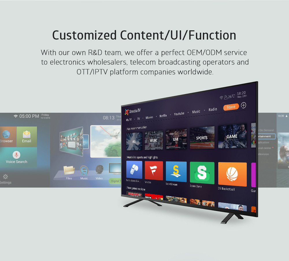 Customized UI/Content/Function