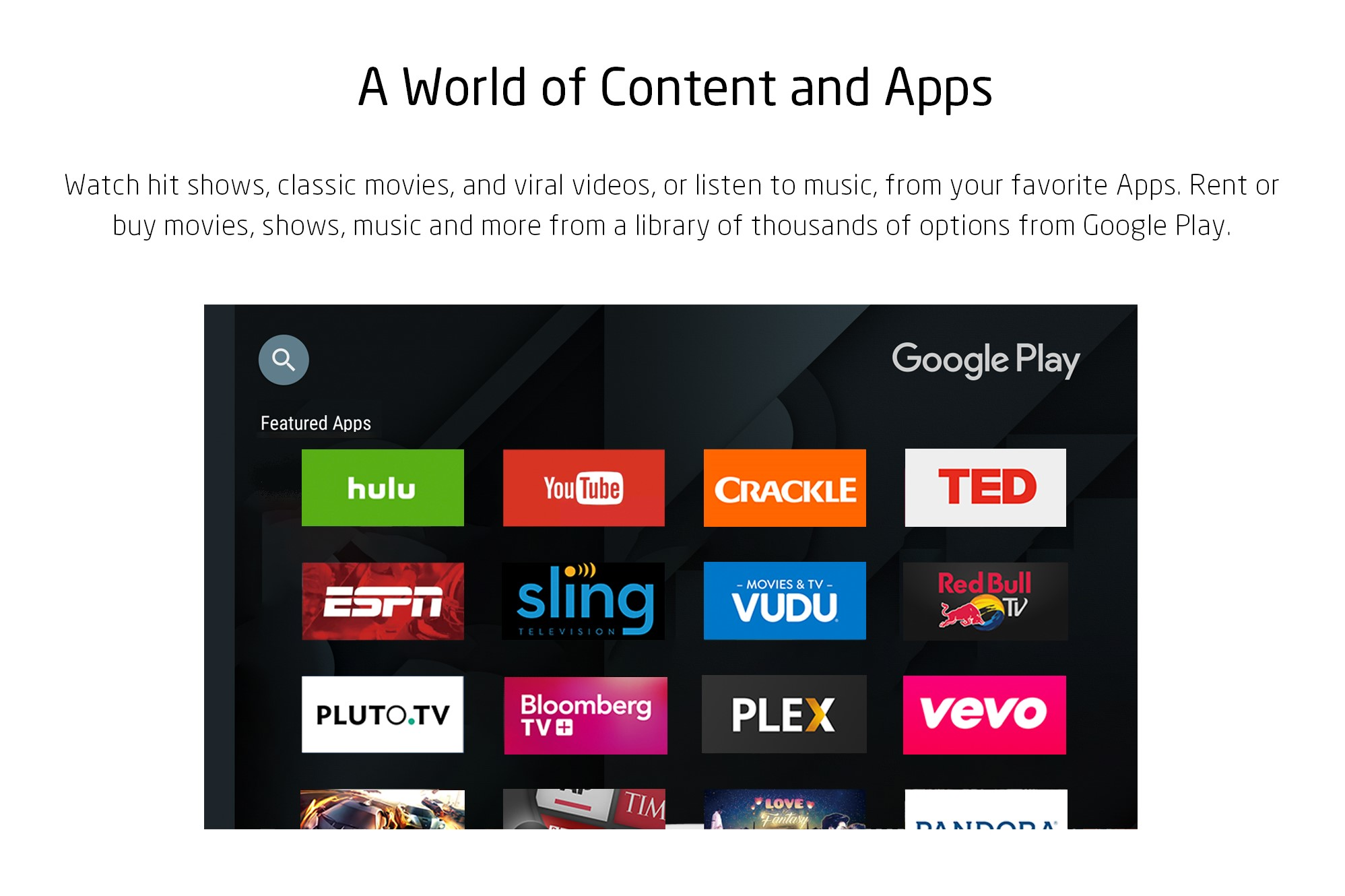 A World of Content and Apps