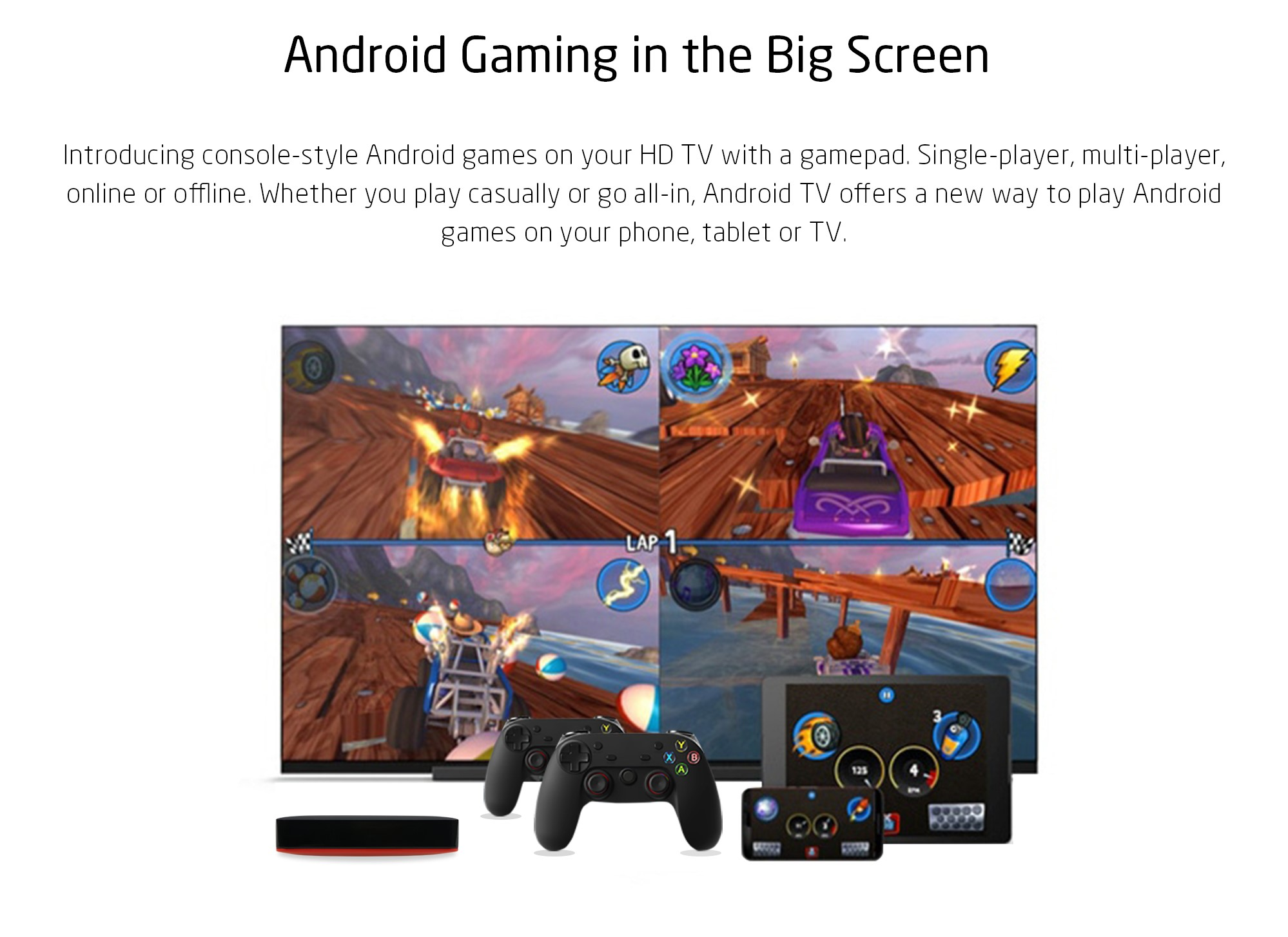 Android Gaming in the Big Screen