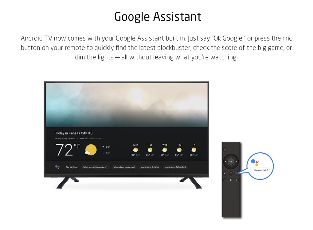 Android tv oreo 8.0 box with Google Assistant