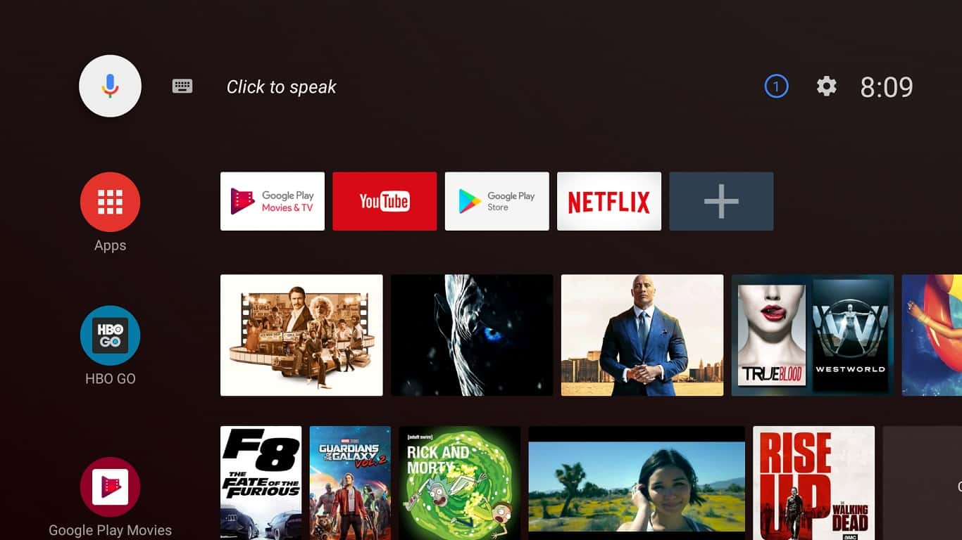 Android TV UI 1