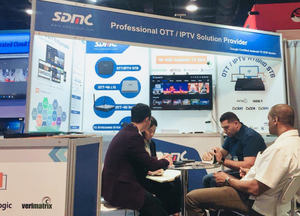 SDMC displayed Android TV Boxes at NAB 2018