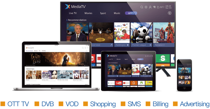 OTT TV Platform - XMediaTV